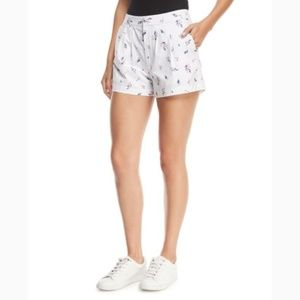 Joie White Floral Shorts